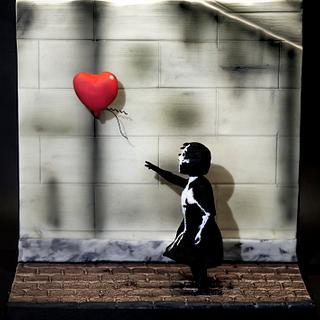 Banksy 3D sugar model - artistic movement collaboration