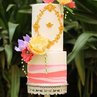 Caker Buddies Valentine Collaboration-February Love - Cake by Monika Srivastava