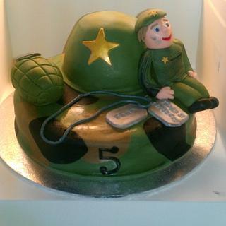army cake  - Cake by kellywalker123