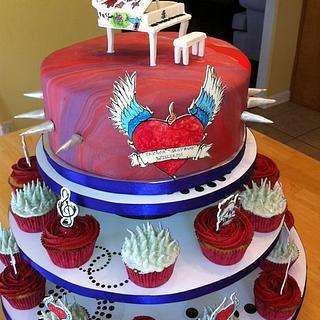 Ed Hardy Piano Cake. - Cake by memphiscopswife