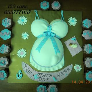 belly pregnant cake