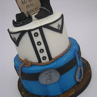 2 Tier Cowboy / Line Dancing / Western Cake