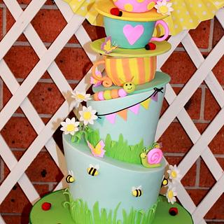 Madhatter Garden Tea Party - Cake by The Sweet Collection