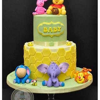 Winnie and Friends Baby Shower Cake