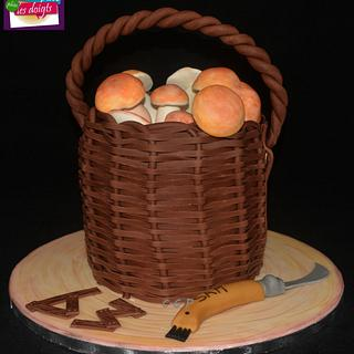 "Cake ""Basket of boletus"""
