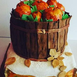 Thanksgiving Apple Basket - Cake by Samantha Dean