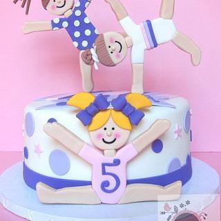 Gymnastics cakes - Cake by Cathy Moilan