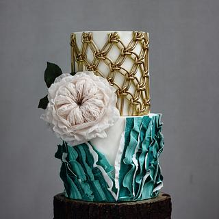 BOHO GLAM WEDDING CAKE 2
