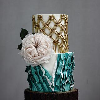 BOHO GLAM WEDDING CAKE 2