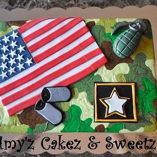 ARMY PROUD - Cake by Amy'z Cakez & Sweetz