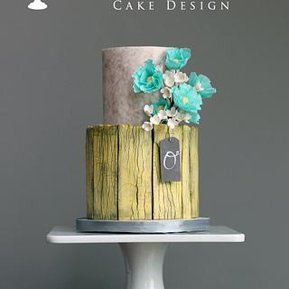 Yellow Barnwood Cake