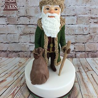 A Victorian Christmas modelled figure