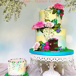 Garden Fairy Door cake