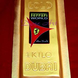 Gold Bar cake