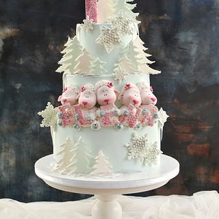Elena's First Birthday Cake