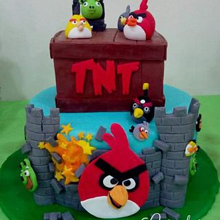 Angry birds - Cake by Carcakes