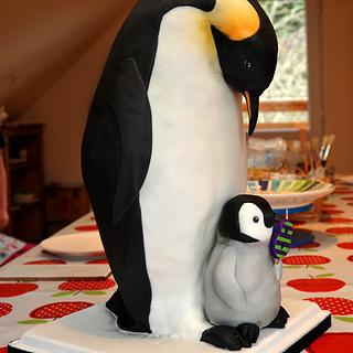 """Emperor Penguin cake 17"""" tall - Cake by Janette MacPherson Cake Craft"""