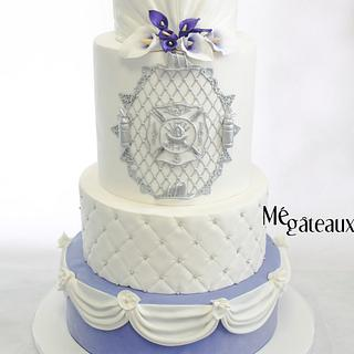 chic firefighter wedding cake - Cake by Mé Gâteaux