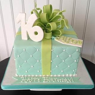 Sweet Sixteen Gift Box Cake