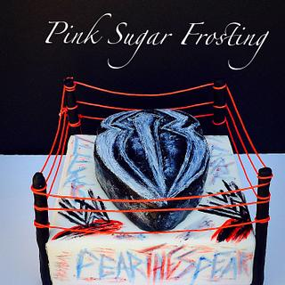 Fear The Spear - Cake by pink sugar frosting