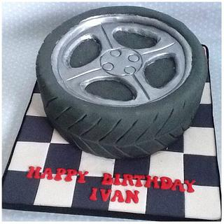 18th Birthday Tyre Cake