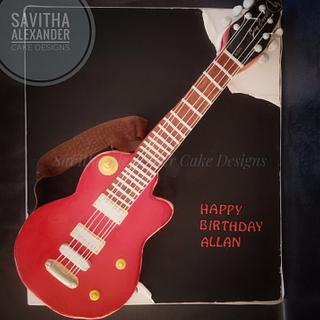 Guitar cake  - Cake by Savitha Alexander