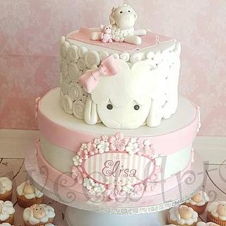 Sheep cake. - Cake by Karen Díaz