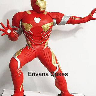 "Gravity Defying 3d Iron man Cake 33"" tall"