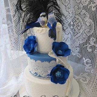 blue lace cake - Cake by Claire North