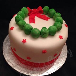 Sprout Christmas cake
