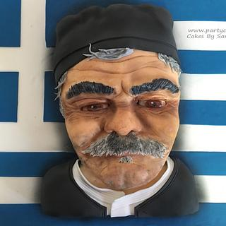 Old Greek Man Cake