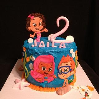 Bubble Guppies in 2D Cake