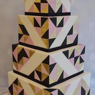 Art deco cake - Cake by Liselotte (Taartje van Lot)