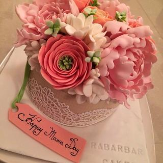 flower bouquet cake - Cake by Rabarbar_cakery