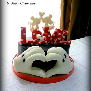 Minnie e Mickey love cake- San Valentine Disney