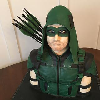 """Arrow"" Birthday Cake"