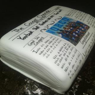 Newspaper Cake