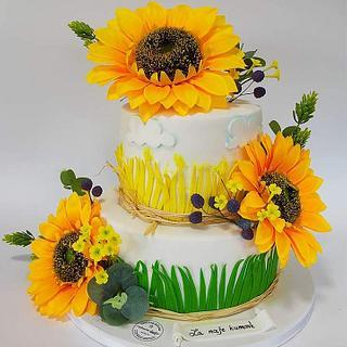Sunflowers Cake - Cake by Oliverine Čarolije