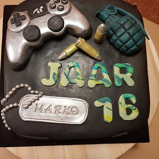 Play station lovers /call of duty  - Cake by Sylwia Abd Rabou