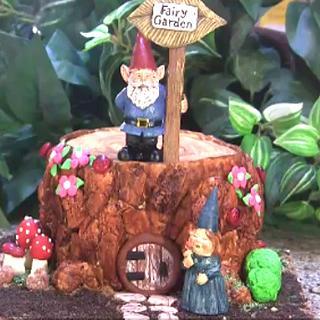Fairy Garden Tree Stump Cake