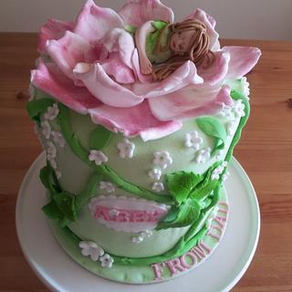 Sleeping fairy cake