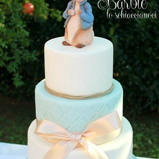 Peter Rabbit baptism Cake