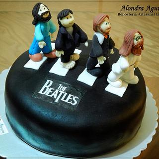 Little Beatles Abbey Road Cake