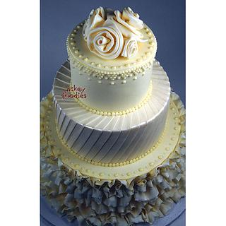 Bride's Gown Wedding Cake - Cake by Wicked Goodies
