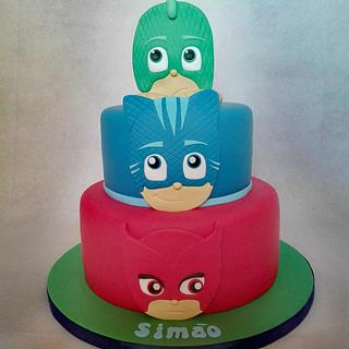 PJ Masks Cake - Cake by Bake My Day