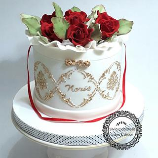 Flower box cake - Cake by Silvia Caballero