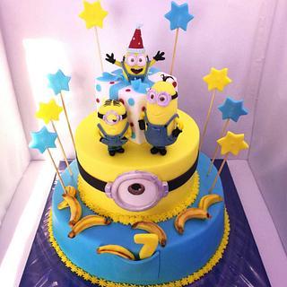 Minions Cake - Cake by SugarClo