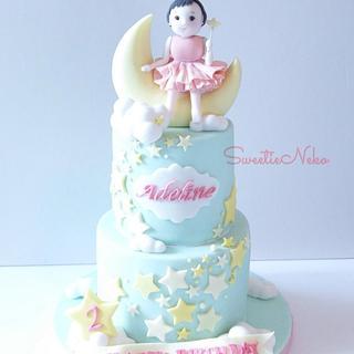 twinkle twinkle little star themed birthday cake