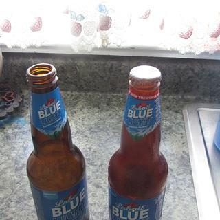 Labatts Blue Sugar Bottle  - Cake by Laura