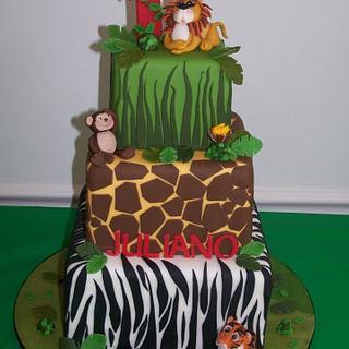 """Jungle birthday cake"""